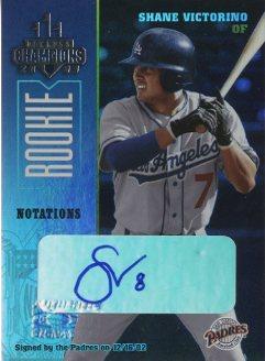 2003 Donruss Champions Autographs Notation #299 Shane Victorino/20