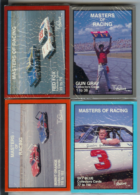 1989 TG Racing - Masters of Racing Set of 152 Nascar Cards (1-152)