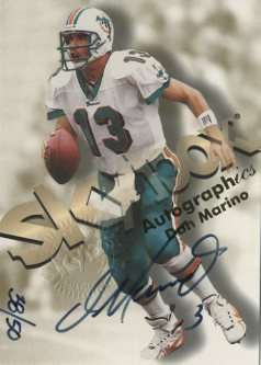 1998 SkyBox Premium Autographics Blue #49 Dan Marino S
