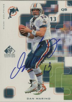 1999 SP Signature Autographs #DM Dan Marino