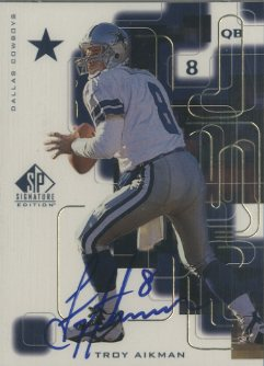 1999 SP Signature Autographs Gold #TA Troy Aikman