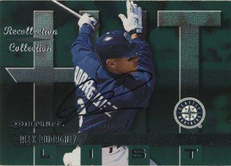 2001 Donruss Recollection Autographs #RC1 A.Rodriguez 97 Don Hit/10