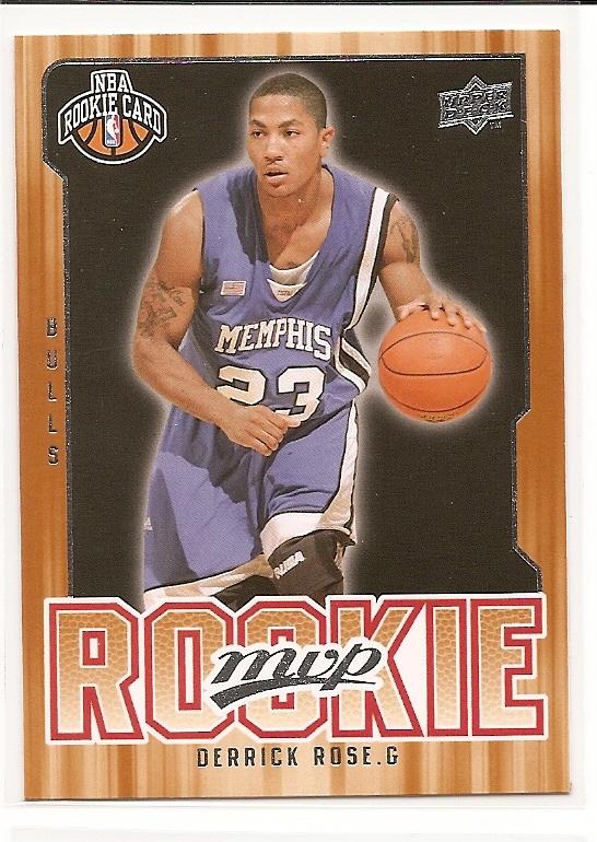 2008-09 Upper Deck MVP #201 Derrick Rose RC