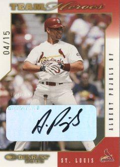 2003 Donruss Team Heroes Autographs #476 Albert Pujols/15