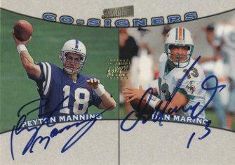 1998 Stadium Club Co-Signers #CO9 Peyton Manning/Dan Marino
