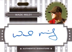 2008 Razor Signature Series Exclusives Autographs #ES33 Wade Miley