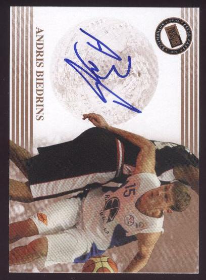 2004 Press Pass Autographs #3 Andris Biedrins