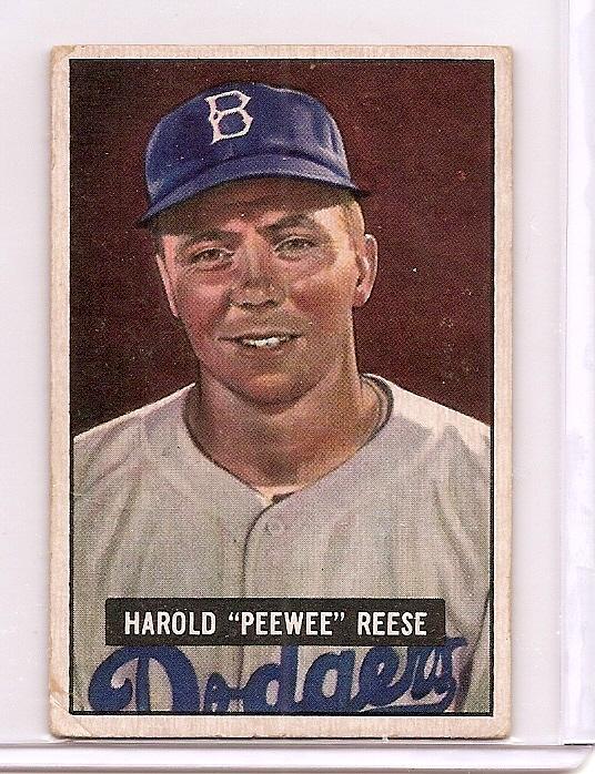 1951 Bowman #80 Pee Wee Reese