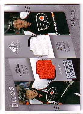 2008-09 SP Game Used Authentic Fabrics Duos #AF2BR Mike Richards/Daniel Briere