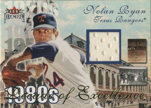 2001 Fleer Premium Decades of Excellence Memorabilia #17 Nolan Ryan Jsy