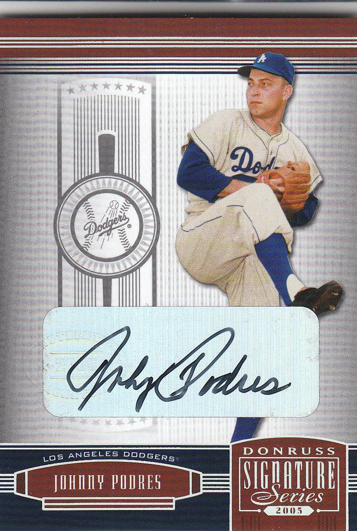 2005 Donruss Signature Autograph Silver #62 Johnny Podres T2/99 *