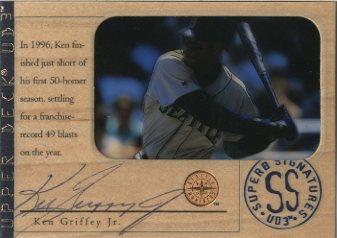1997 UD3 Superb Signatures #2 Ken Griffey Jr.