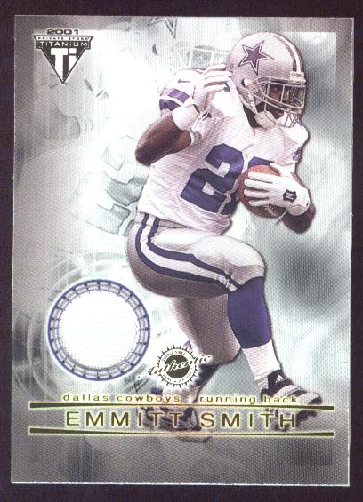 2001 Titanium Double Sided Jerseys #77 Emmitt Smith/Eddie George