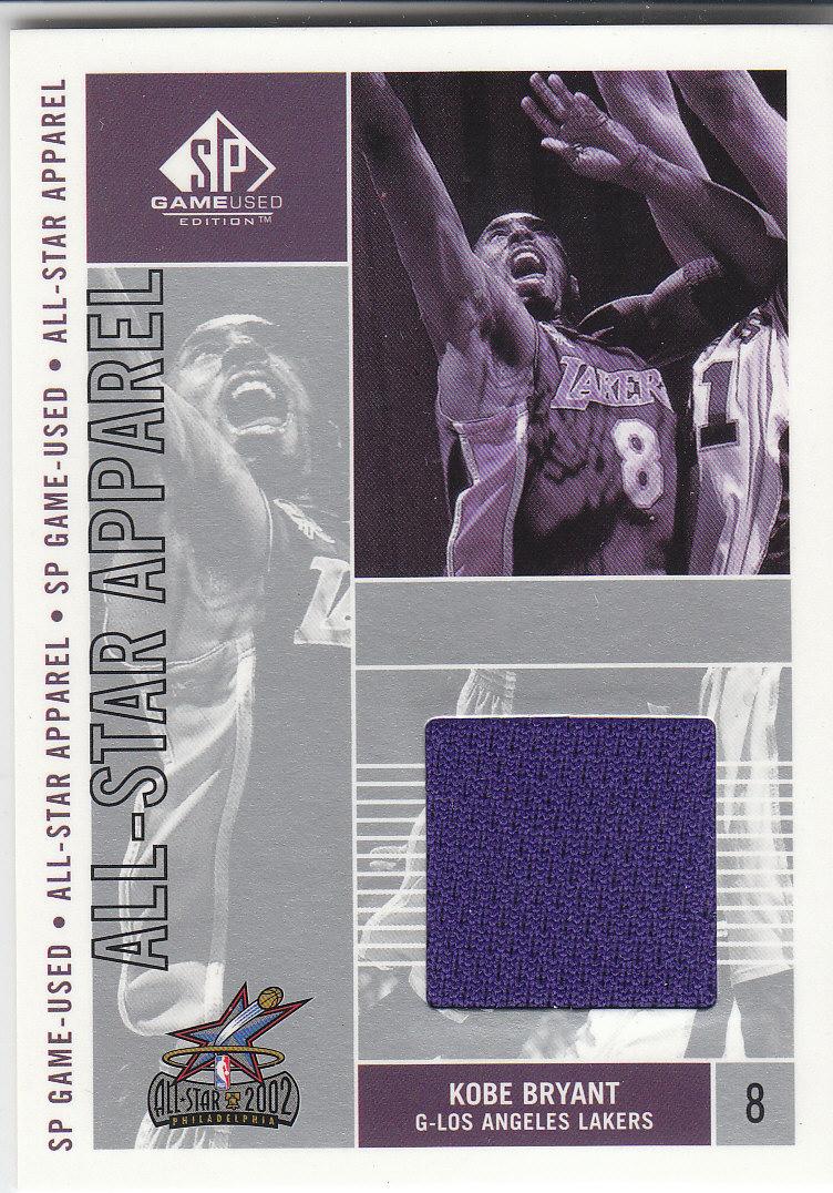 2002-03 SP Game Used All-Star Apparel #KBAS Kobe Bryant