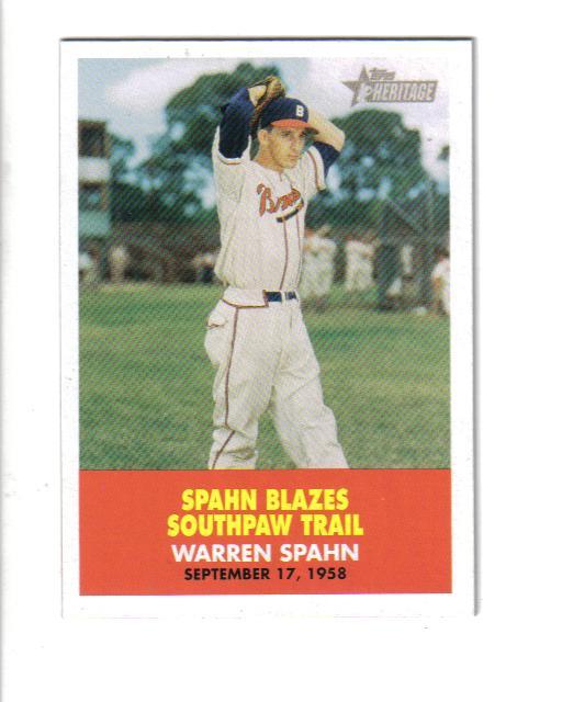 2007 Topps Heritage Flashbacks #FB4 Warren Spahn