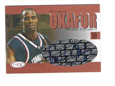 2004 SAGE Autographs Bronze #A23 Emeka Okafor/200