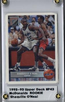 199293 Upper Deck Mcdonalds Basketball Shaquille Oneal