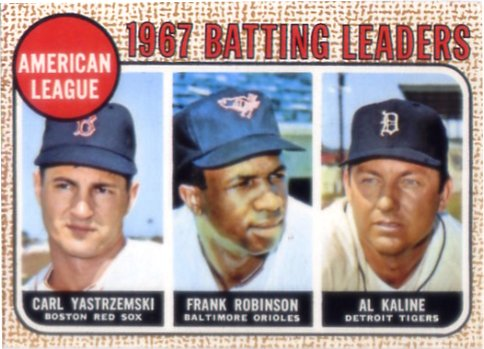 1968 Topps #2 AL Batting Leaders/Carl Yastrzemski/Frank Robinson/Al Kaline