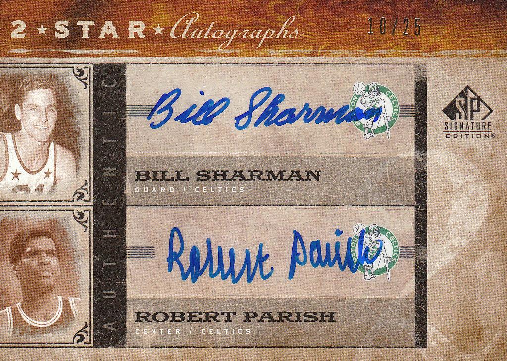 2006-07 SP Signature Edition Two Star Autographs #SP Bill Sharman/Robert Parish