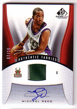 2006-07 SP Game Used Patches Autographs #153 Michael Redd