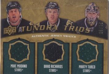 2008-09 Artifacts Tundra Trios Gold #T3MRT Mike Modano/Brad Richards/Marty Turco