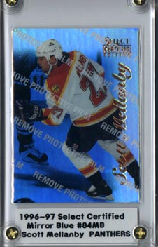 1996/97 Select Certified Hockey Scott Mellanby Mirror Blue Mint NICE!