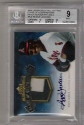 2005 Upper Deck Hall Of Fame Class Of Cooperstown PATCH Autograph Gold #RJ3 Reggie Jackson #3/5! BGS MINT 9! BGS PRISTINE 10 Autograph!