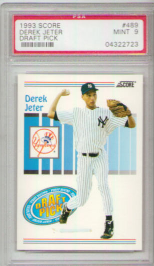 1993 Score #489 Derek Jeter Draft Pick ROOKIE PSA MINT 9!