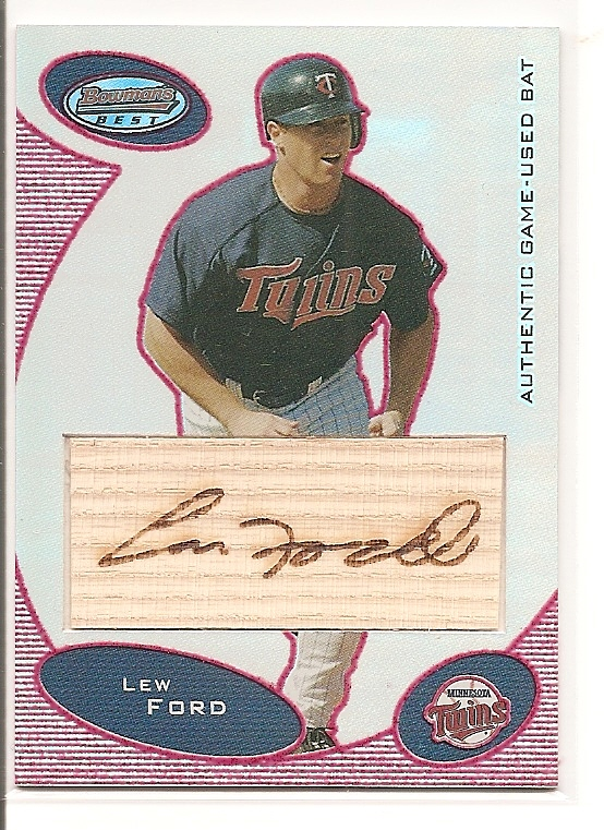 2003 Bowman's Best Red #LFJ Lew Ford FY Bat