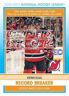 2009-10 O-Pee-Chee Record Breakers #RB4 Patrik Elias