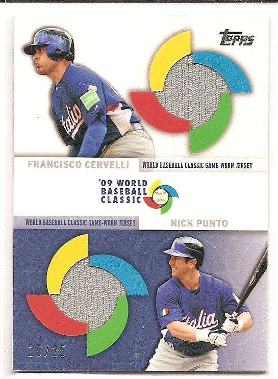 2009 Topps Update WBC Stitches Dual #CP Francisco Cervelli/Nick Punto