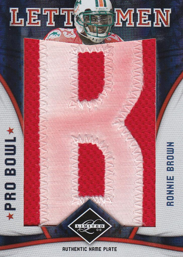 2009 Limited Pro Bowl Lettermen #21 Ronnie Brown/5