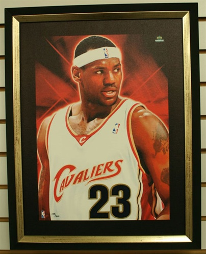 Lebron James Artistic Impressions Jersey Patch Framed Piece by Upper Deck Collectibles