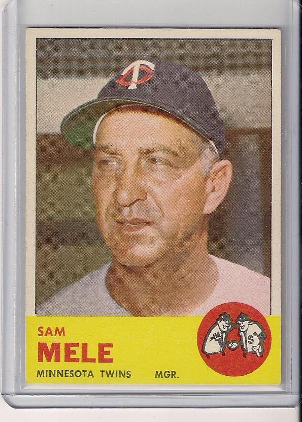 1963 Topps #531 Sam Mele MG