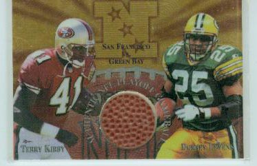 1997 Collector's Edge Masters Playoff Game Ball #13 Dorsey Levens/Terry Kirby