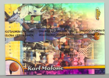 1998-99 Topps Finest Basketball Oversized Refractor KARL MALONE #14 BEAUTIFUL!!
