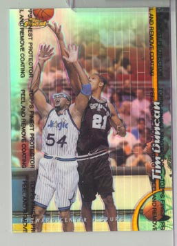 1998-99 Topps Finest basketball Oversized Refractor Tim Duncan MINT BEAUTIFUL!
