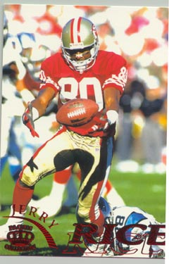 1996 Pacific Gridiron Football JERRY RICE NICE!