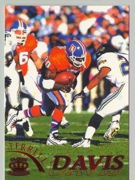 1996 Pacific Gridiron Football Terrell Davis NICE!