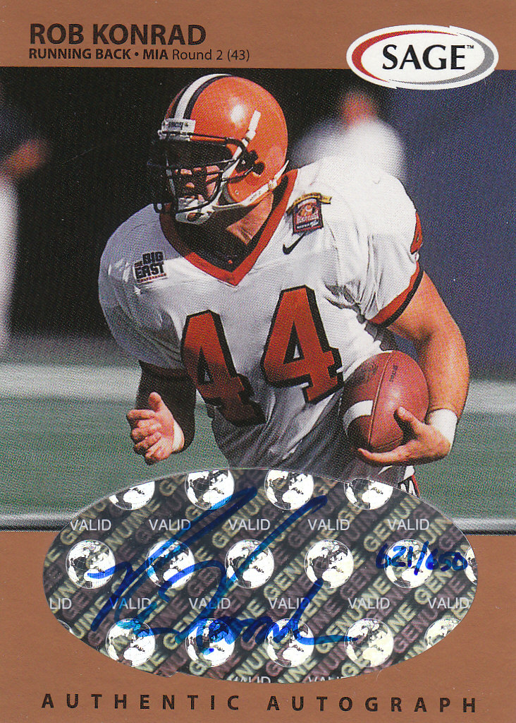 1999 SAGE Autographs Bronze #A31 Rob Konrad/650