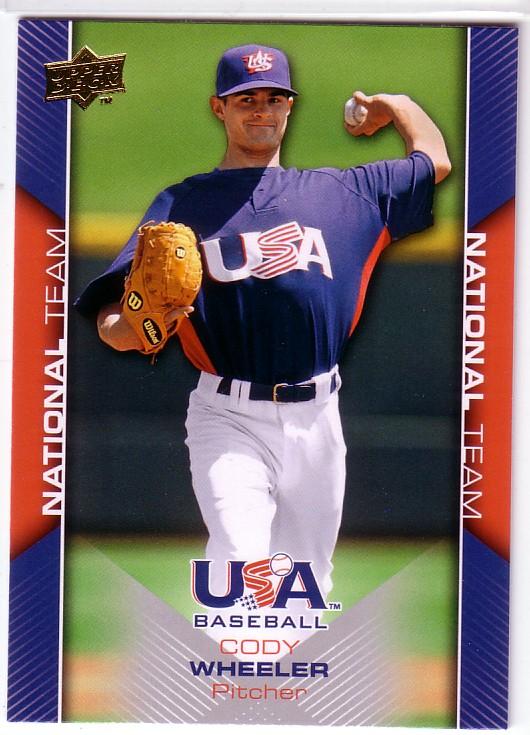 2009-10 USA Baseball #USA3 Cody Wheeler