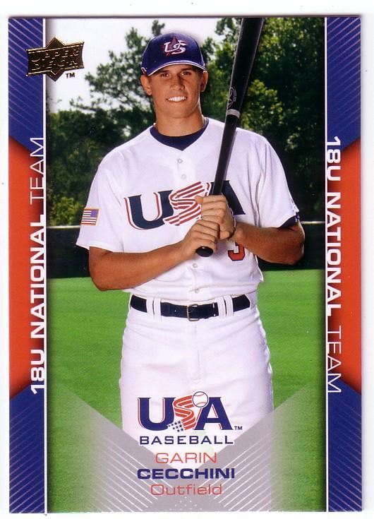 2009-10 USA Baseball #USA25 Garin Cecchini