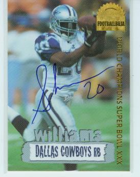 1996 Collector's Edge Cowboybilia Autographs #DCA3 Sherman Williams/4000