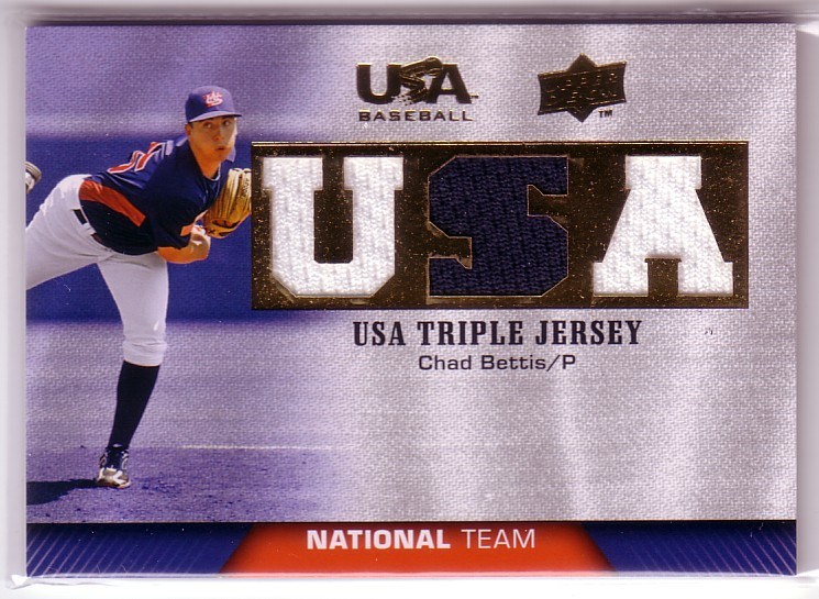 2009-10 USA Baseball National Team Jerseys #CB Chad Bettis