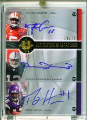 2009 Ultimate Collection Ultimate Six Autographs #RWR Hakeem Nicks/10/Darrius Heyward-Bey/Michael Crabtree/Jeremy Maclin/Brian Robiskie/Percy Harvin