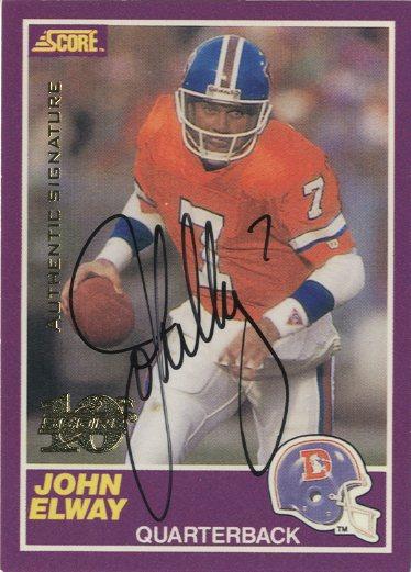 1999 Score 10th Anniversary Reprints Autographs #3 John Elway