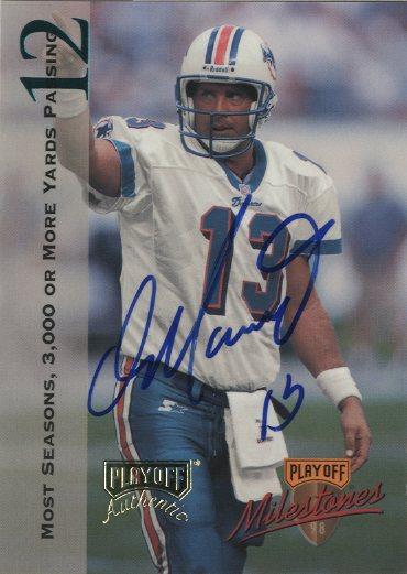 1998 Playoff Prestige Dan Marino Milestone Autographs #1 Dan Marino
