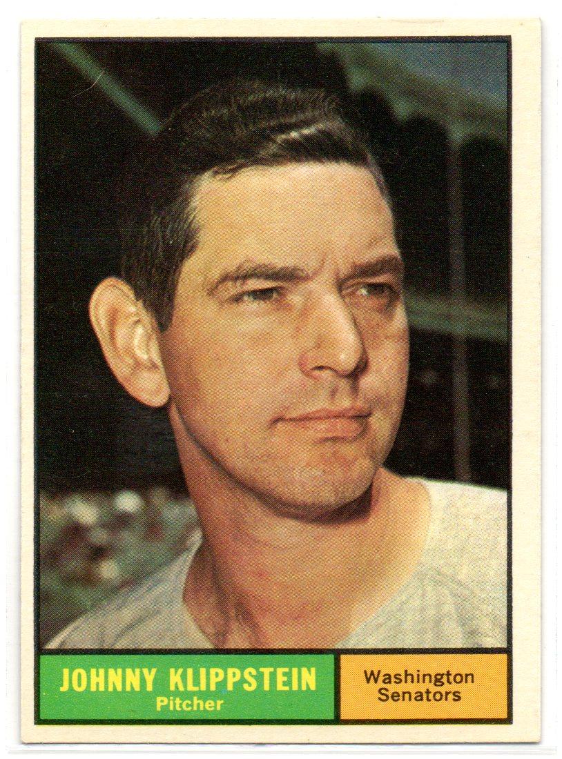 1961 Topps #539 Johnny Klippstein
