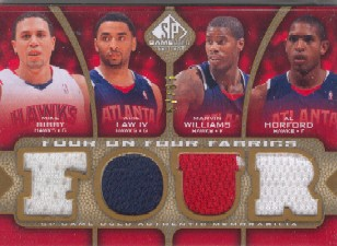 2009-10 SP Game Used 4 on 4 Fabrics 65 #FFATLMIA Marvin Williams/Mike Bibby/Al Horford/Acie Law/Dwyane Wade/Udonis Haslem/Jermaine O'Neal/Mario Chalmers