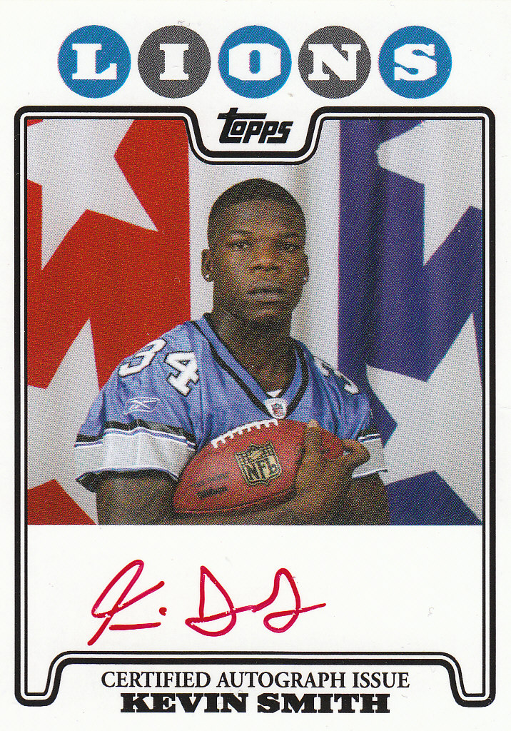 2008 Topps Rookie Premiere Autographs Red Ink #RPRAKS Kevin Smith